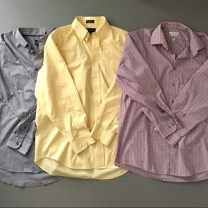 Set of 3! Like New Men's Dress Shirts